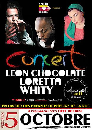 Concert de Léon Showman, Loretta et Whity
